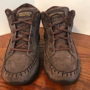 Skechers Laced Up Booties Chocolate Size 9